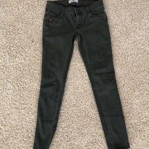 Hollister dark green/gray Jeggings